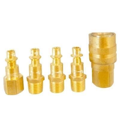 5 PC. Solid Brass Quick Coupler-air tool accessories-Tool Mart Inc.