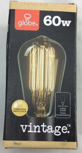 60-Watt Incandescent S60 Vintage Squirrel Cage Medium Base Light Bulb Damaged Box-Lighting-Tool Mart Inc.