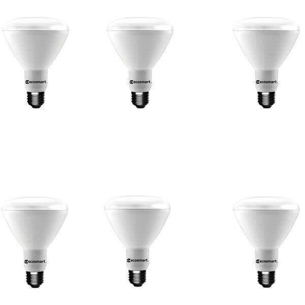 65-Watt Equivalent BR30 Dimmable LED Light Bulb Soft White (6-Pack) Damaged Box-recessed fixtures-Tool Mart Inc.