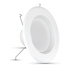 75W Equivalent Soft White 6 in. White Baffle-Trim Recessed Retrofit Downlight LED 90 CRI Maintenance Pack (6-Pack) Damaged Box-recessed fixtures-Tool Mart Inc.