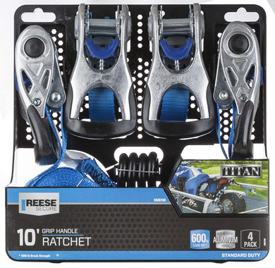 Reese Secure Ratchet Tie Down 4 Pieces