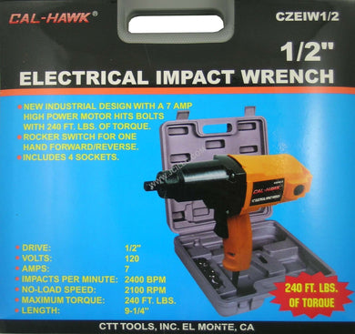 Cal-Hawk Electrical Impact Wrench 1/2 Inch