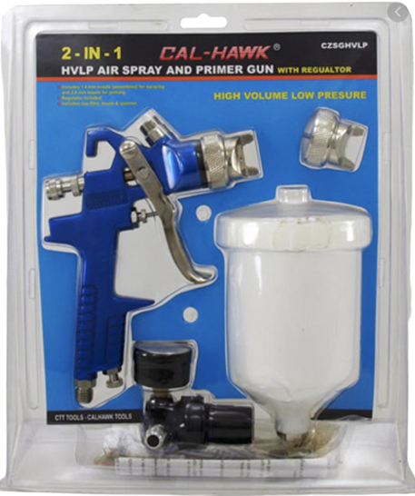 Air Spray And Primer Gun With Regulator
