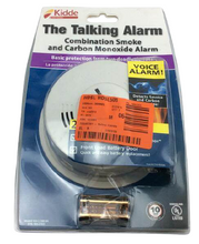 Battery Operated Smoke and Carbon Monoxide Combination Detector with Voice Alarm and Intelligent Hazard Sensing Damaged package