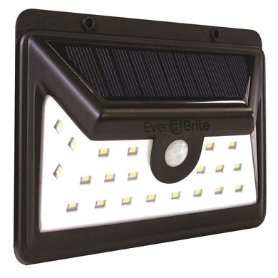 Black motion activated outdoor integrated LED area light with white solar light damaged box-solar lights-Tool Mart Inc.