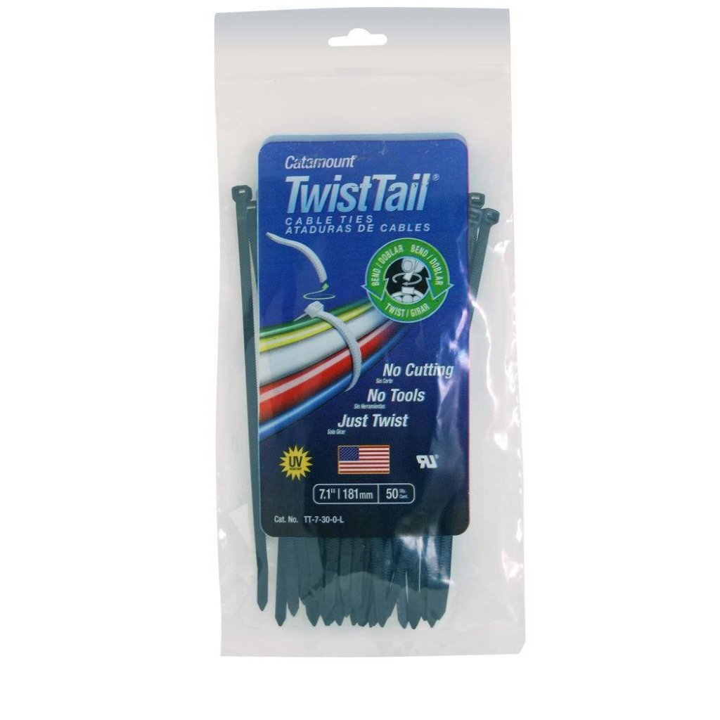 Twist Tail 50 Count Zip and Twist 7 1 Inch Cable Ties Damaged Bag