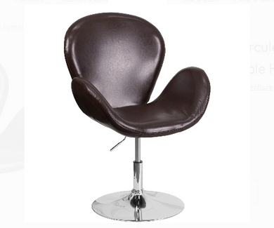 Brown Leather Reception Chair Furniture-Furniture-Tool Mart Inc.