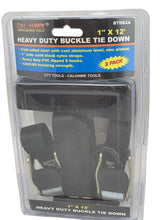 Buckle Tie Downs 1 Inch Wide 12 Feet Long 2 Pack-tie downs, chains, & straps-Tool Mart Inc.