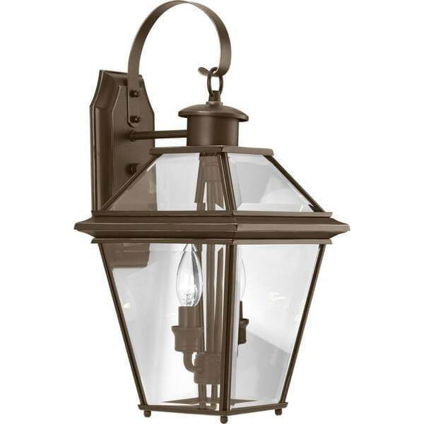 Burlington Collection 2-Light 18.75 in. Outdoor Antique Bronze Wall Lantern Damaged Box-outdoor lighting-Tool Mart Inc.