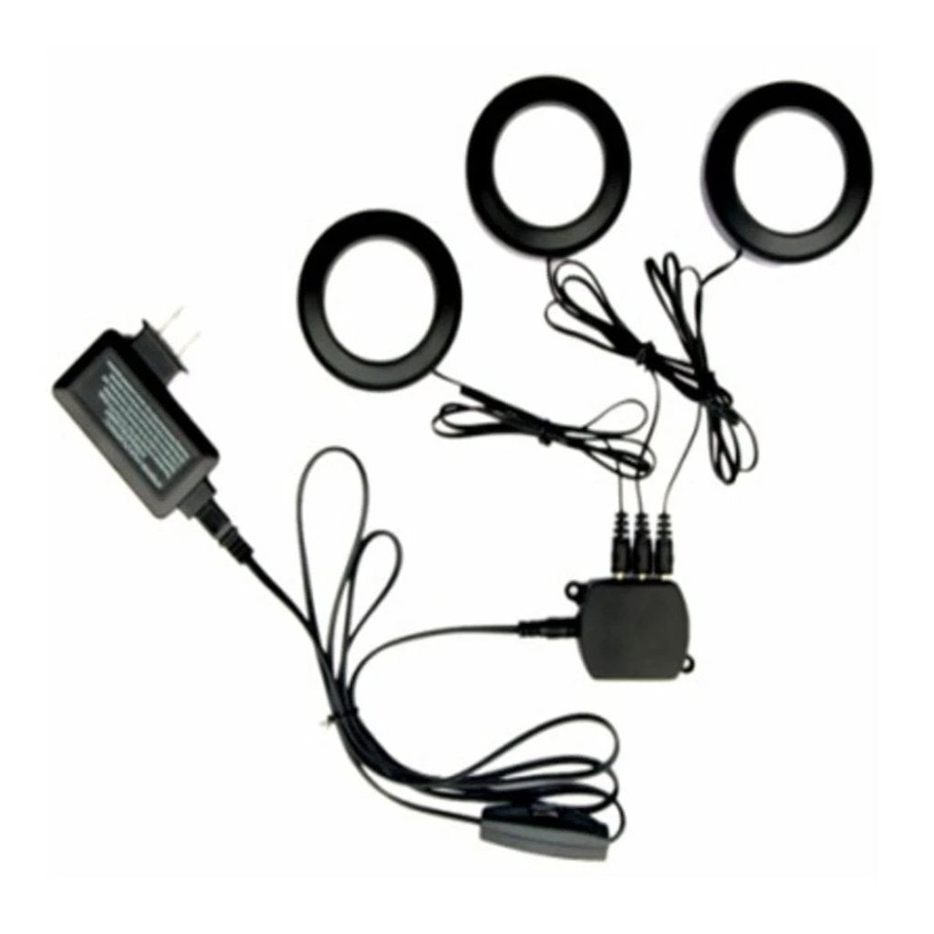 Commercial Electric 3-Light LED Black Puck Light Kit Damaged Packaging-light-Tool Mart Inc.