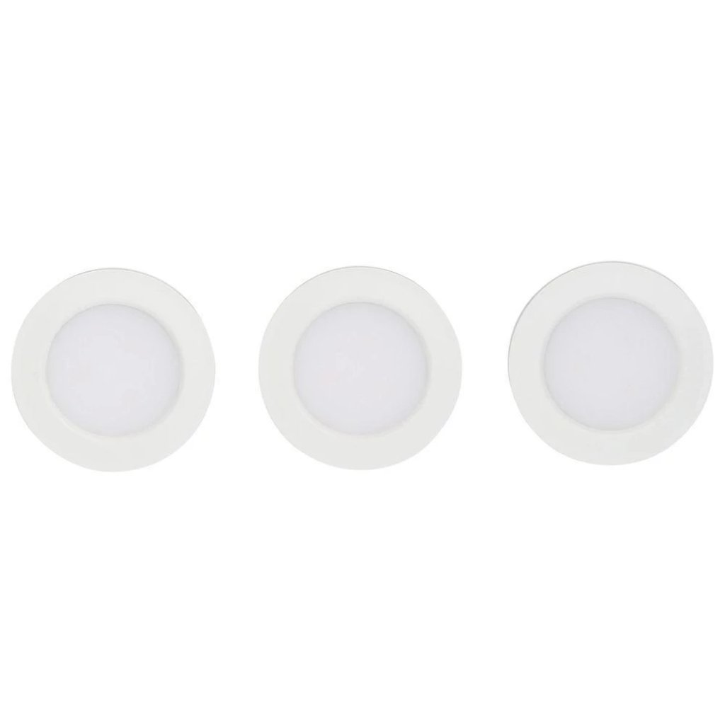Commercial Electric 3-Light LED White Puck Light Kit Damaged Box-under cabinet-Tool Mart Inc.