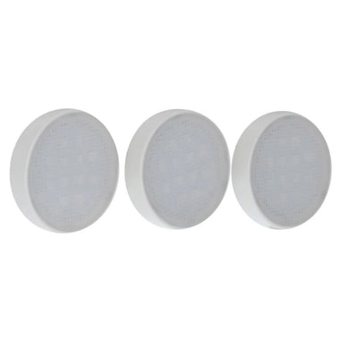 Commercial Electric 3-Light LED White RGB Color Changing Puck Light Kit Damaged Packaging-under cabinet-Tool Mart Inc.