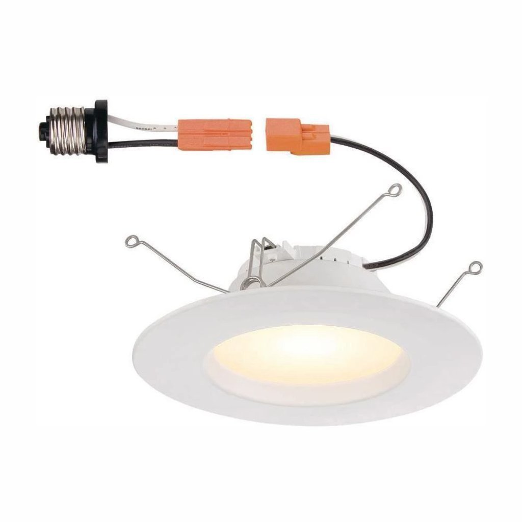 Commercial Electric 5 Inch and 6 Inch White High Ceiling LED Trim Damaged Box-recessed fixtures-Tool Mart Inc.