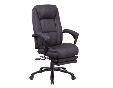 Delacora Black 27 Inch Fabric Executive Swivel Chair With Padded Arms-Furniture-Tool Mart Inc.