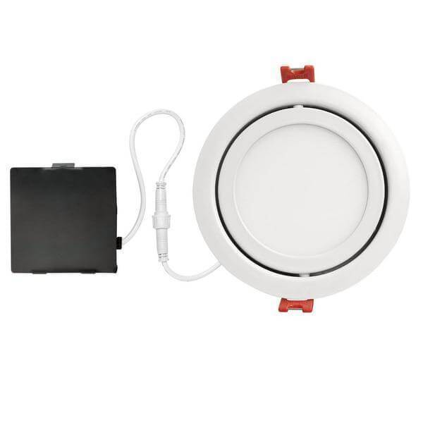 Designer Slim Directional 4 in. White Integrated LED Recessed Kit Damaged Box-recessed fixtures-Tool Mart Inc.