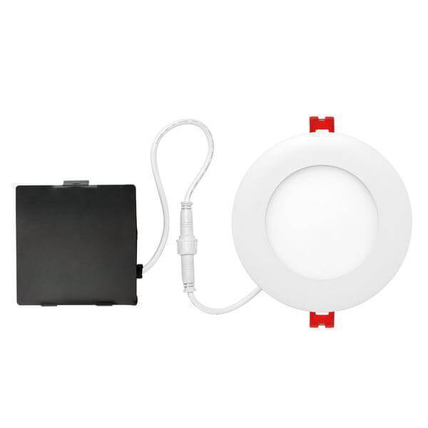 Designer Ultra Slim 4 in. White Integrated LED Recessed Kit Damaged Box-recessed fixtures-Tool Mart Inc.