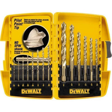 Dewalt 14 Piece Pilot Point and Drill Bit Set-drills & drivers-Tool Mart Inc.