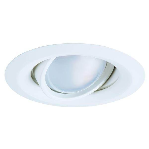 E26 Series 5 in. White Recessed Ceiling Light Self Flanged Adjustable Gimbal with 25 Degree Tilt-recessed fixtures-Tool Mart Inc.