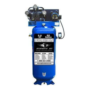 Eagle 5 HP 60 Gallon Single Stage Air Compressor (208/230V 1-Phase)-eagle air compressors-Tool Mart Inc.