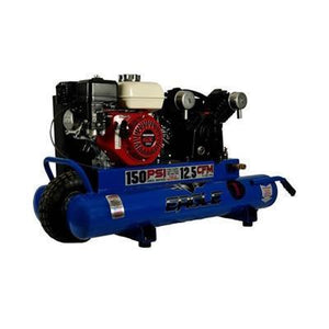 Eagle 5.5 HP 10 Gallon Gas Wheelbarrow Air Compressor With Honda Engine-eagle air compressors-Tool Mart Inc.