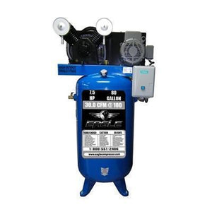 Eagle 7.5 HP 80 Gallon Single Stage Air Compressor (208-230v 1 Phase)-eagle air compressors-Tool Mart Inc.