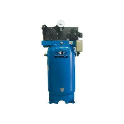 Eagle 7.5 HP 80 Gallon Two Stage Air Compressor (208-230v1-1 Phase)-eagle air compressors-Tool Mart Inc.