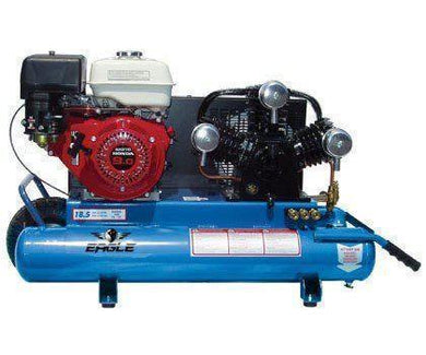Eagle Gas Air Compressor 9HP Honda Twin Tank 10 Gallon Manual Start-eagle air compressors-Tool Mart Inc.