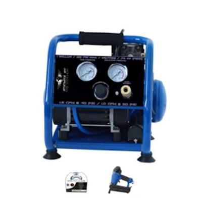 Eagle Silent Series .75 HP 1 Gallon Compressor with Nail Gun-eagle air compressors-Tool Mart Inc.