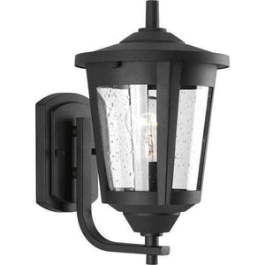 East Haven Collection 1-Light Small Black 12.75 in. Outdoor Wall Lantern Damaged Box-outdoor lighting-Tool Mart Inc.