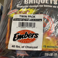 Embers Brand Charcoal Bundle Bundle Contains 2 Bags 20 Lbs Each-OTHER ITEMS-Tool Mart Inc.