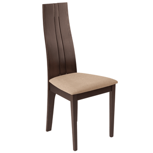 Espresso Finish Wood Dining Chair with Brown Fabric Seat Two Pieces Of Chairs-furniture-Tool Mart Inc.