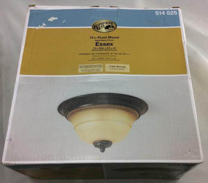 Essex 2-Light Aged Black Flush Mount Damaged Box-Lighting-Tool Mart Inc.