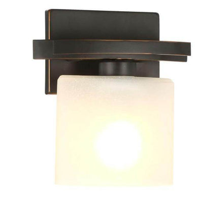 Ettrick 1-Light Oil-Rubbed Bronze Sconce with Hand Pained Glass Shade Damaged Box-sconces & wall fixtures-Tool Mart Inc.