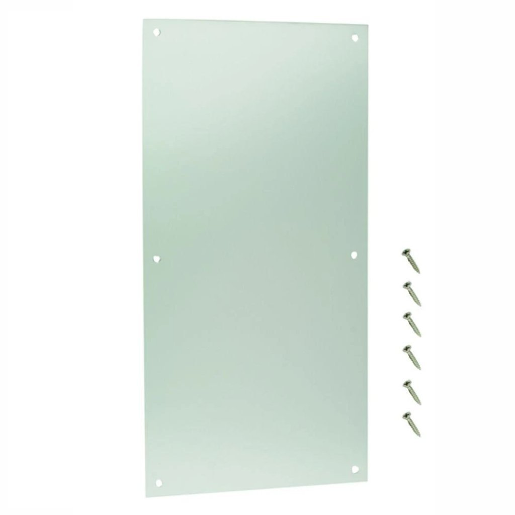 Everbilt 8 in. x 16 in. Satin Aluminum Push Plate Damaged Box-miscellaneous-Tool Mart Inc.