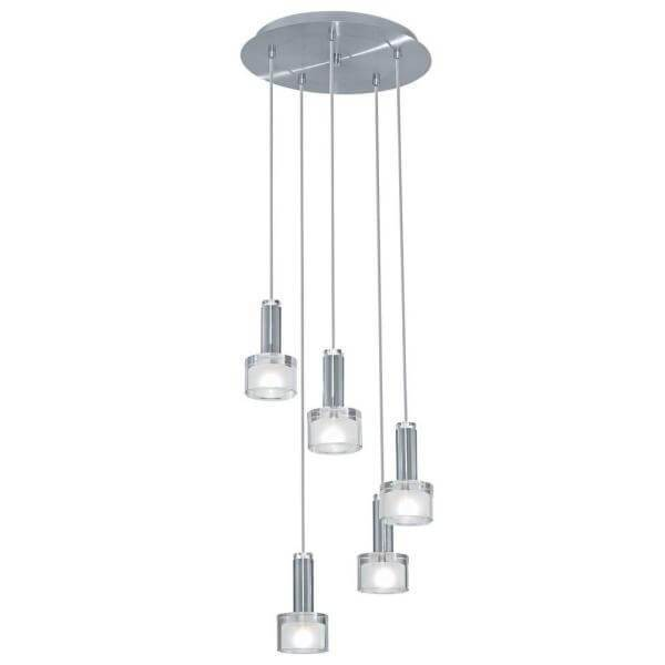 Fabiana 5-Light Chrome Ceiling Mount Pendant Damaged Box-Lighting-Tool Mart Inc.