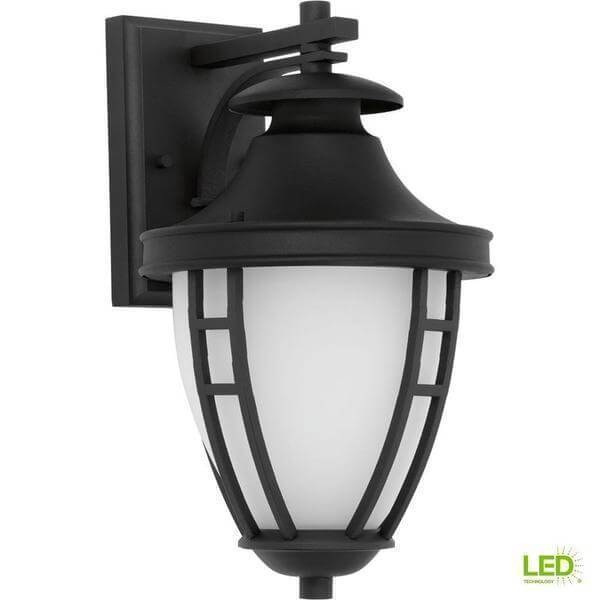 Fairview Collection 1-Light 14.2 in. Outdoor Textured Black LED Wall Lantern Damaged Box-outdoor lighting-Tool Mart Inc.