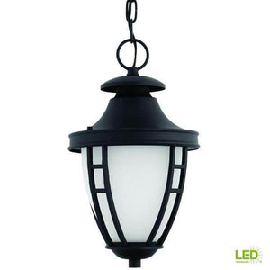 Fairview Collection 1-Light Outdoor Textured Black LED Hanging Lantern Damaged Box-Lighting-Tool Mart Inc.