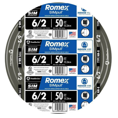 Fifty foot Stranded Romex SIMpull damaged box-cables & cords-Tool Mart Inc.