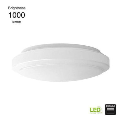 Functional Style 12 in. Round White 75 Watt Equivalent Integrated Integrated LED Flush Mount 1000 Lumens Dimmable Damaged Box-Lighting-Tool Mart Inc.