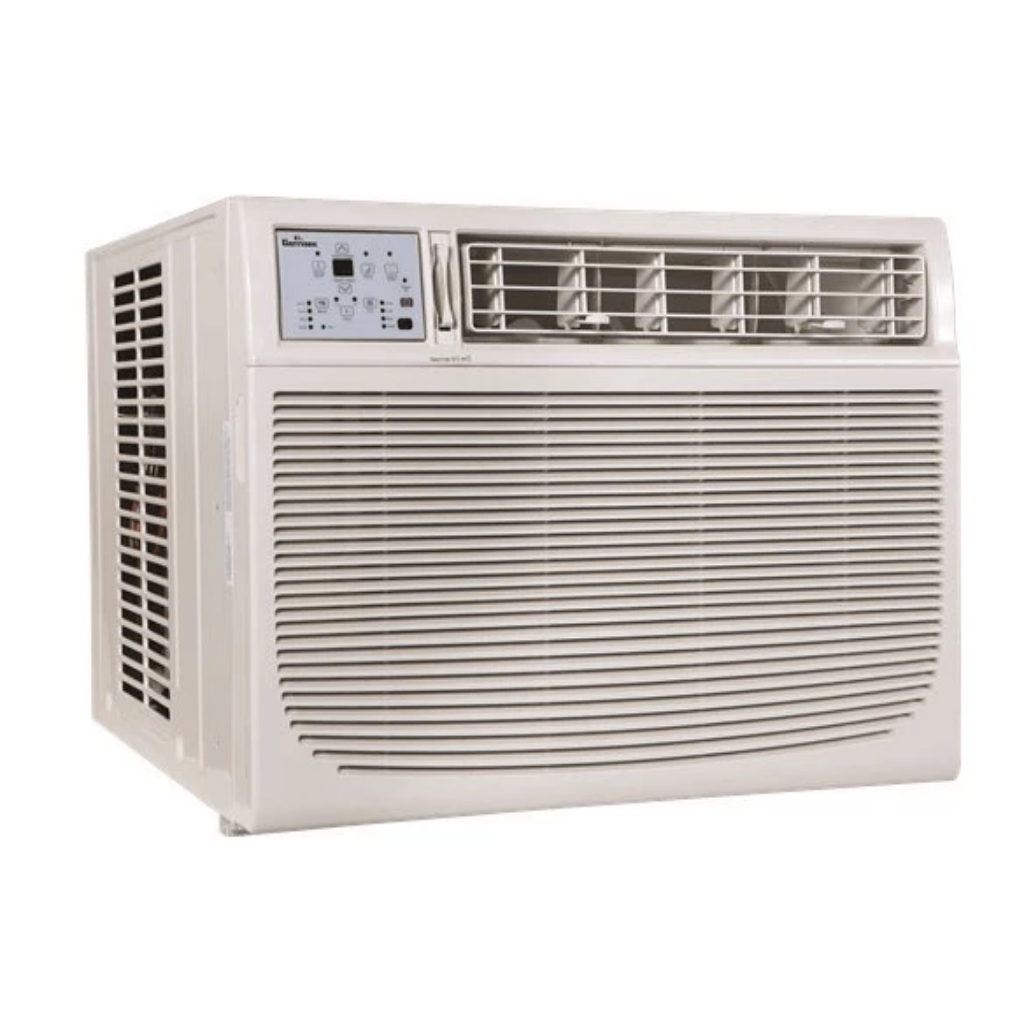 Garrison 2477803 R-410A Through-The-Window Heat/Cool Air Conditioner with Remote Control, 18000 BTU, White-fans, cooling, & heating-Tool Mart Inc.