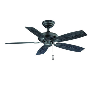 Gazebo II 42 in. Indoor/Outdoor Natural Iron Ceiling Fan Damaged Box-ceiling fixtures & fans-Tool Mart Inc.