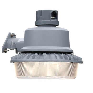 Gray outdoor integrated LED area light with dusk to dawn photocell damaged box-outdoor lighting-Tool Mart Inc.