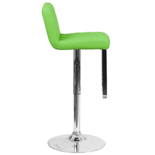 Green Vinyl Adjustable Height Barstool with Chrome Price Is For Two Bar Stools-Furniture-Tool Mart Inc.