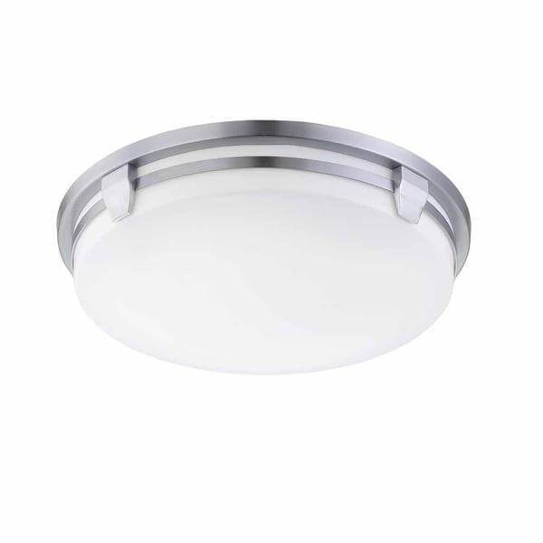 Hamilton 2-Light Brushed Nickel Fluorescent Flush Mount Damaged Box-Lighting-Tool Mart Inc.