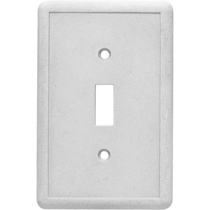 Hampton Bay 1-Gang Toggle Switch Plate Stone Grey Damaged Box-outlets, switches, & plates-Tool Mart Inc.