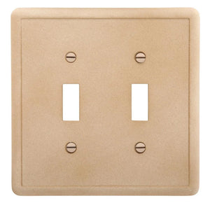 Hampton Bay 2-Toggle Wall Plate, Noche Damaged Box-outlets, switches, & plates-Tool Mart Inc.