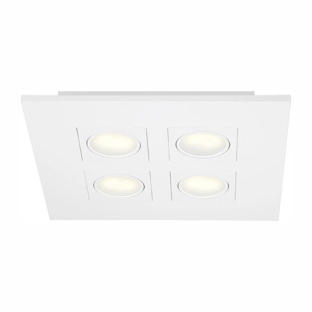Hampton Bay 9.2-Watt White Integrated LED Flush Mount Damaged Box-light-Tool Mart Inc.