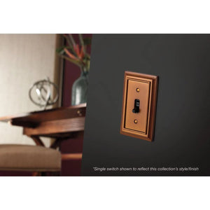 Hampton Bay Architectural Wood Decorative Single Switch Plate, Saddle Damaged Box-outlets, switches, & plates-Tool Mart Inc.