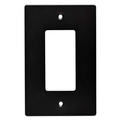Hampton Bay Subway Tile Decorative Single Rocker Switch Plate, Matte Black Damaged Box-outlets, switches, & plates-Tool Mart Inc.