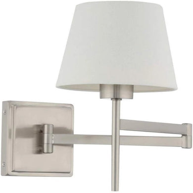 Hampton Bay Swing Arm Wall Scone Damaged Box-sconces & wall fixtures-Tool Mart Inc.